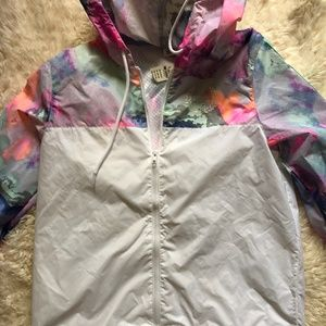 PINK Victoria's Secret Jackets & Coats - NWT Victoria's Secret PINK Tropical Rainbow Anorak